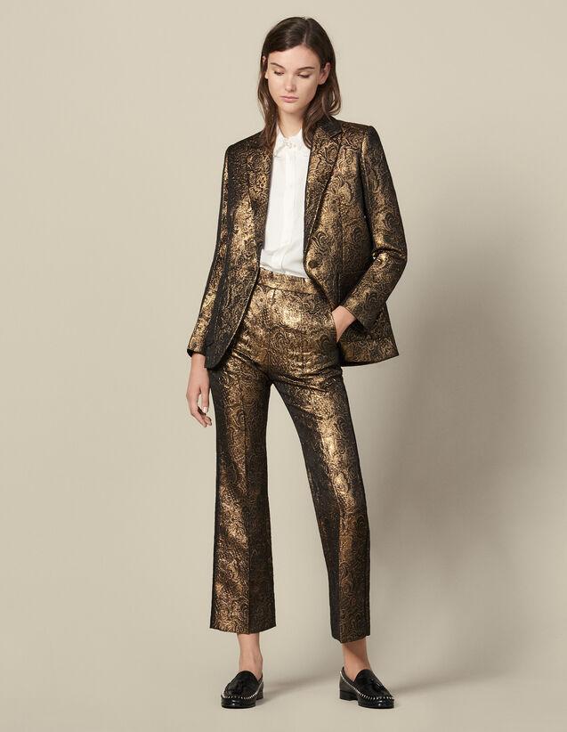 Veste de tailleur en brocard : -30% couleur Or