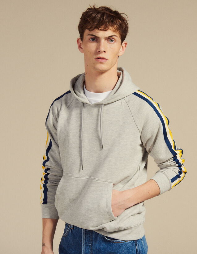 Sweat Hoodie En Molleton : Sweats couleur Gris Chiné