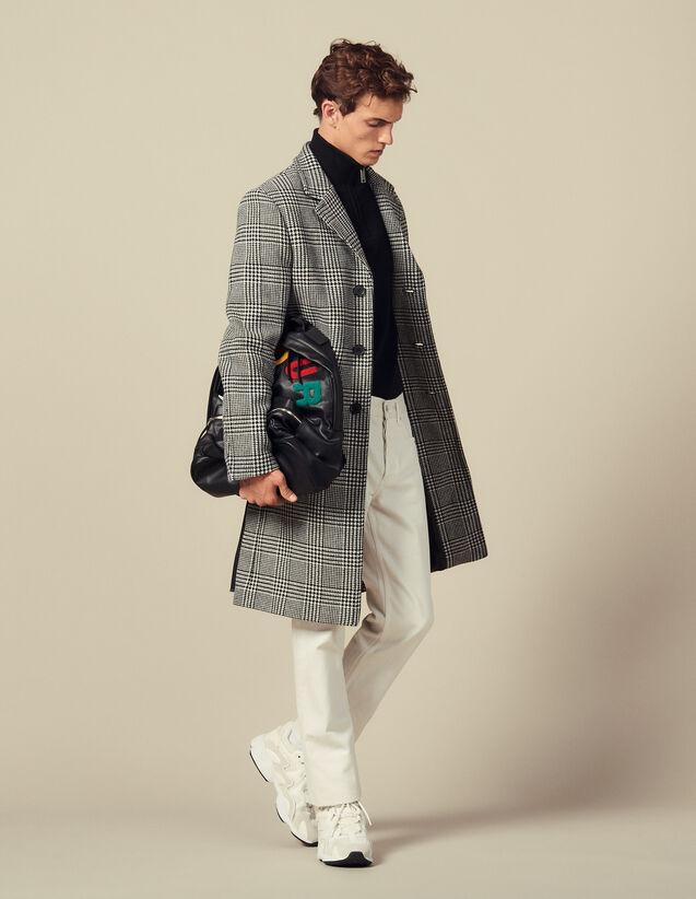 Manteau droit Prince-de-galles : Trenchs & Manteaux couleur Noir/Blanc