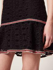 Jupe Courte À Volant : Jupes & Shorts couleur Noir