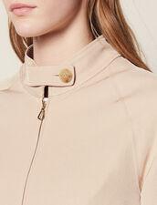 Blouson Court Uni Et Fluide : Blousons & Vestes couleur Sable