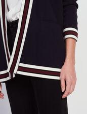 Cardigan long avec bandes contrastantes : FAnciennesCollections couleur