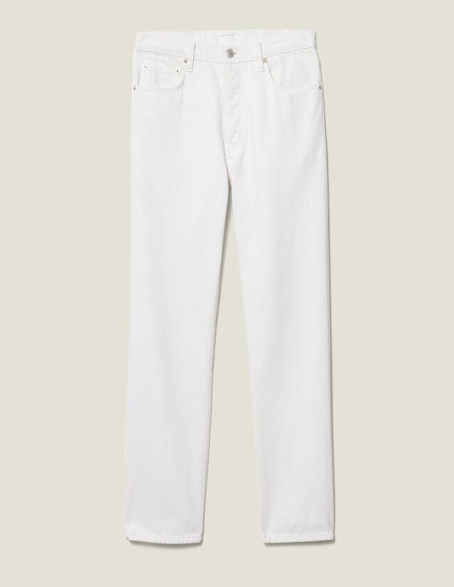 Jean Slim En Coton : Nouvelle Collection couleur Blanc