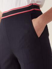 Pantalon Coupe Droite : Pantalons couleur Marine