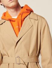 Trench-Coat Long En Coton : Trenchs & Manteaux couleur Beige