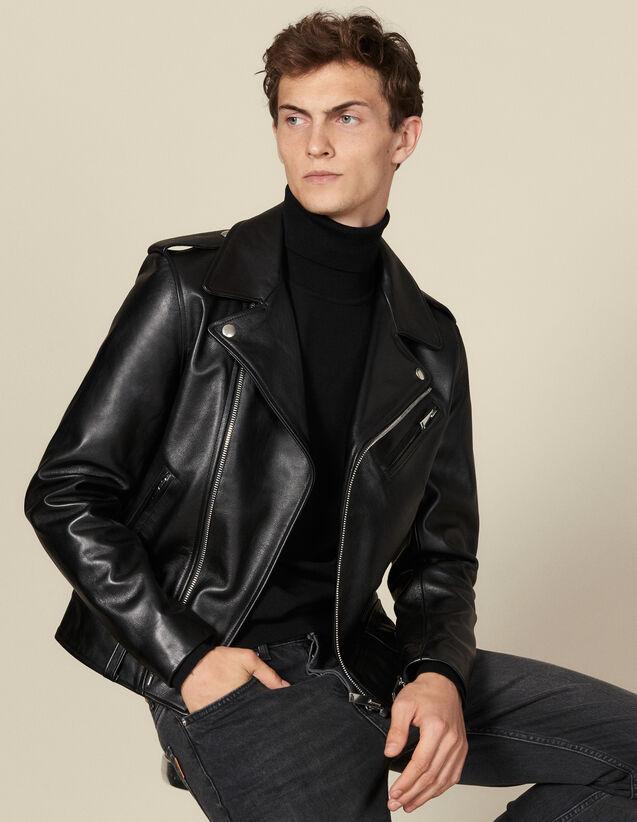 Perfecto en cuir : Blousons & Vestes couleur Noir