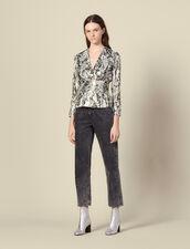 Top en jacquard lurex : Tops & Chemises couleur Multicolore