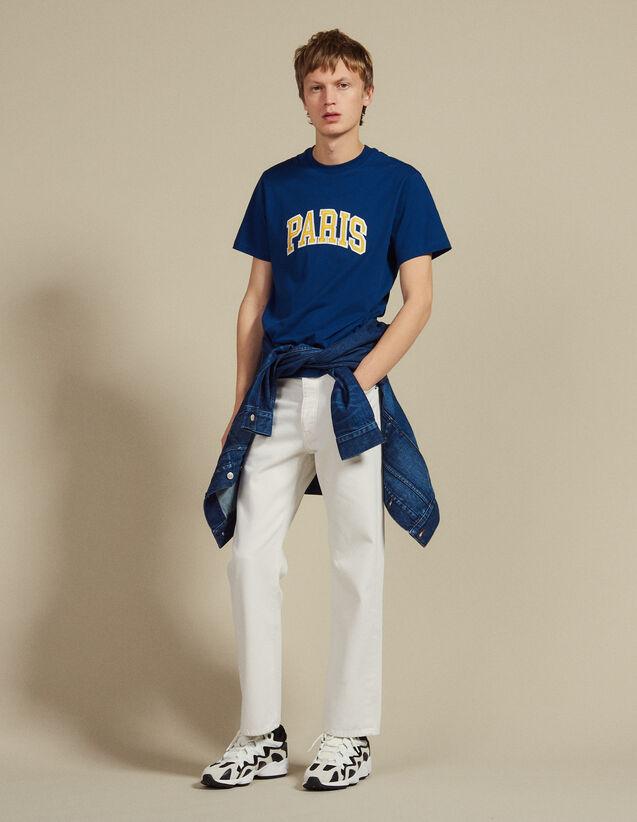 T-Shirt Avec Patch À Messages : LastChance-CH-HSelection-Pap&Access couleur Bleu
