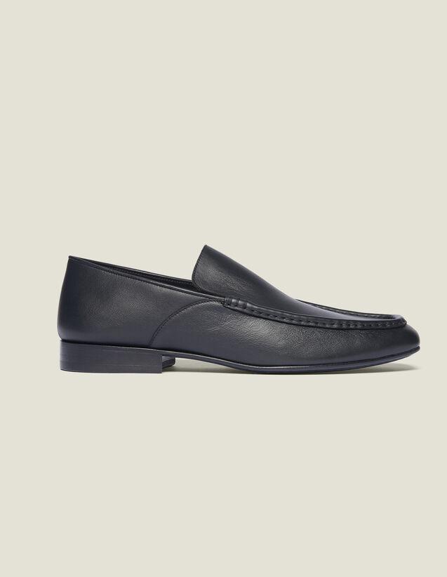 Mocassin En Cuir : Chaussures couleur Noir