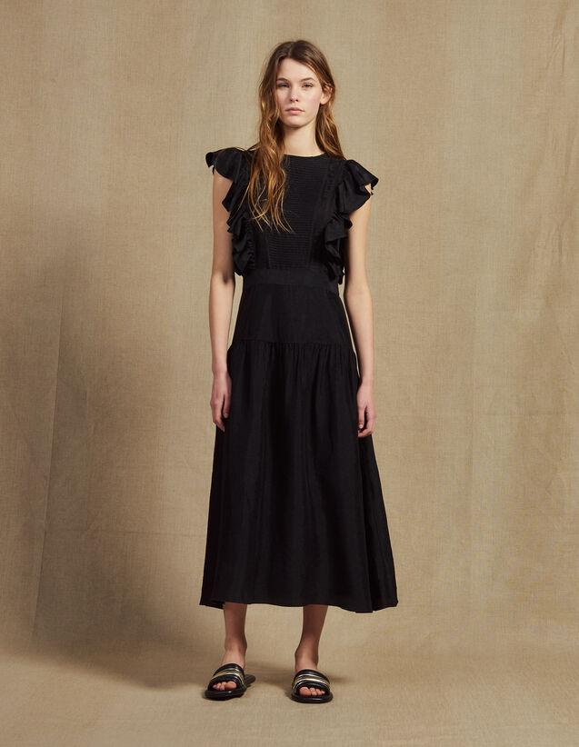 Robe Longue Fluide Sans Manches : Sélection Last Chance couleur Noir