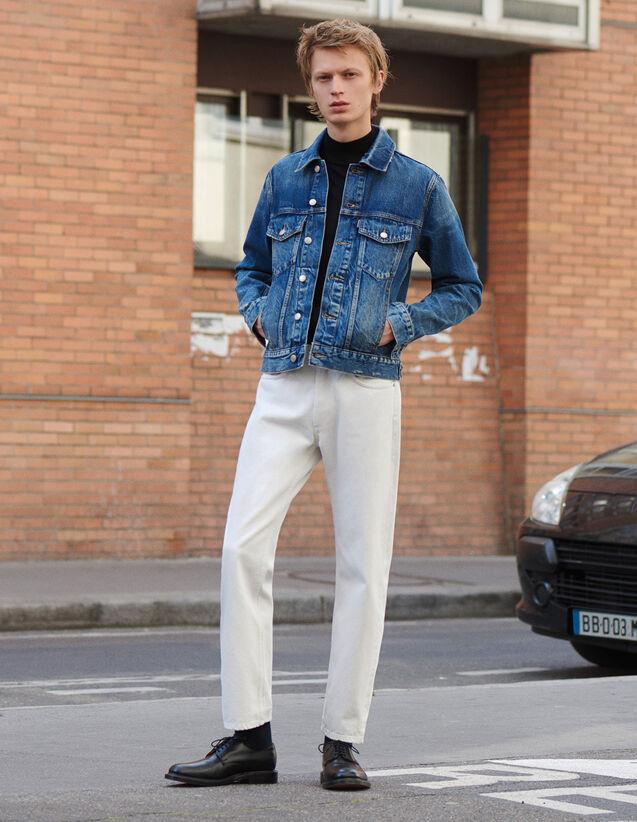 Jean Blanc Coupe Droite : SOLDES-CH-HSelection-PAP&ACCESS-2DEM couleur blanc