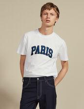 T-Shirt Avec Patch À Messages : T-shirts & Polos couleur Blanc