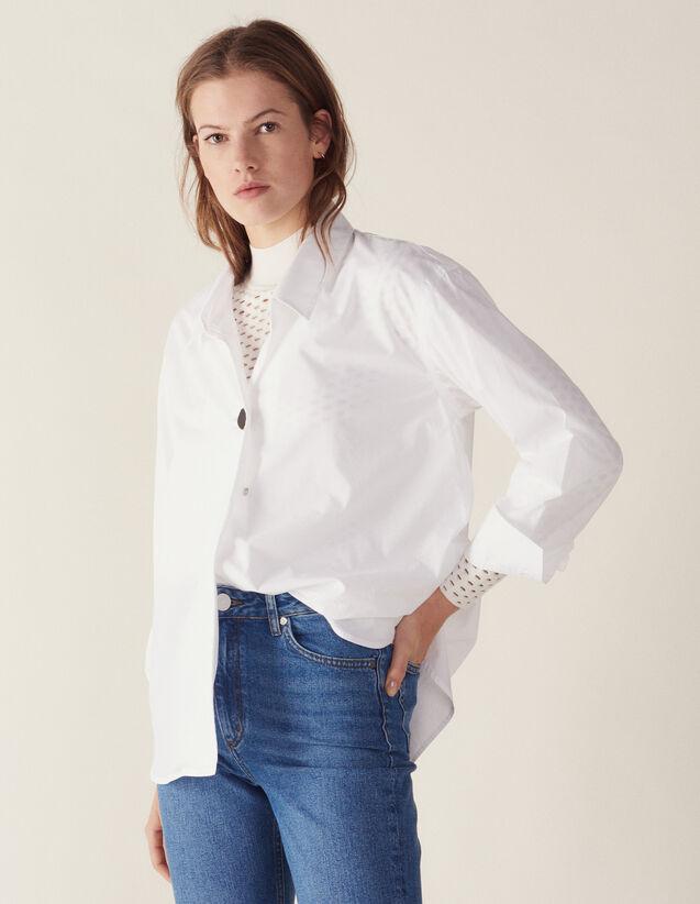 Chemise En Coton Ornée D'Un Bouton Bijou : Sélection Last Chance couleur Blanc