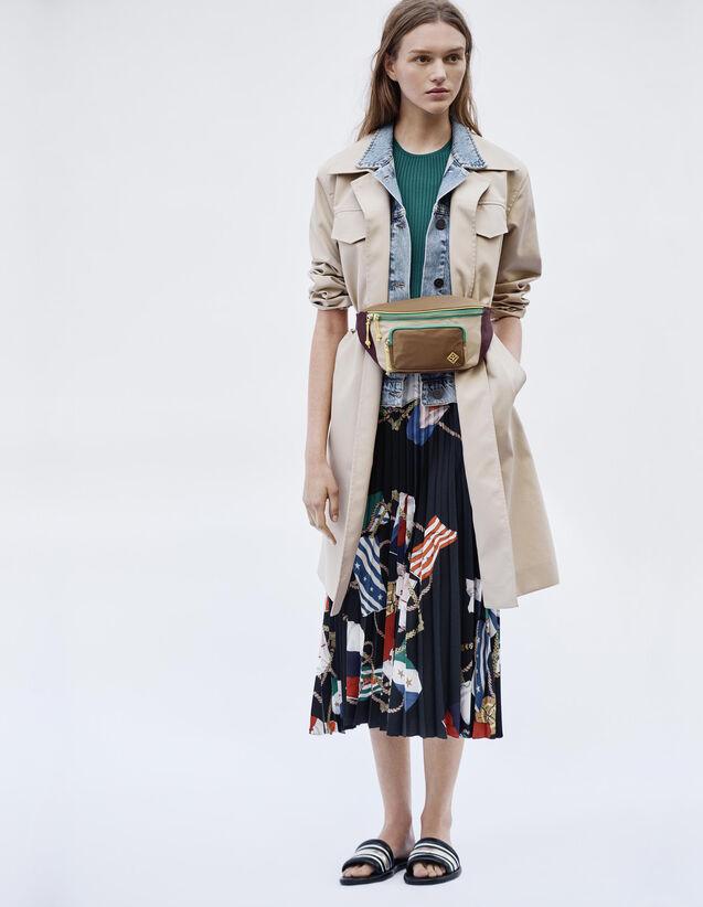 Manteau Trench Coat Effet Trompe L'Œil : Manteaux couleur Beige