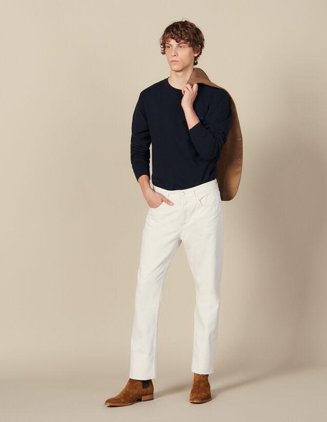 Jean slim en coton : Toute la collection Hiver couleur blanc