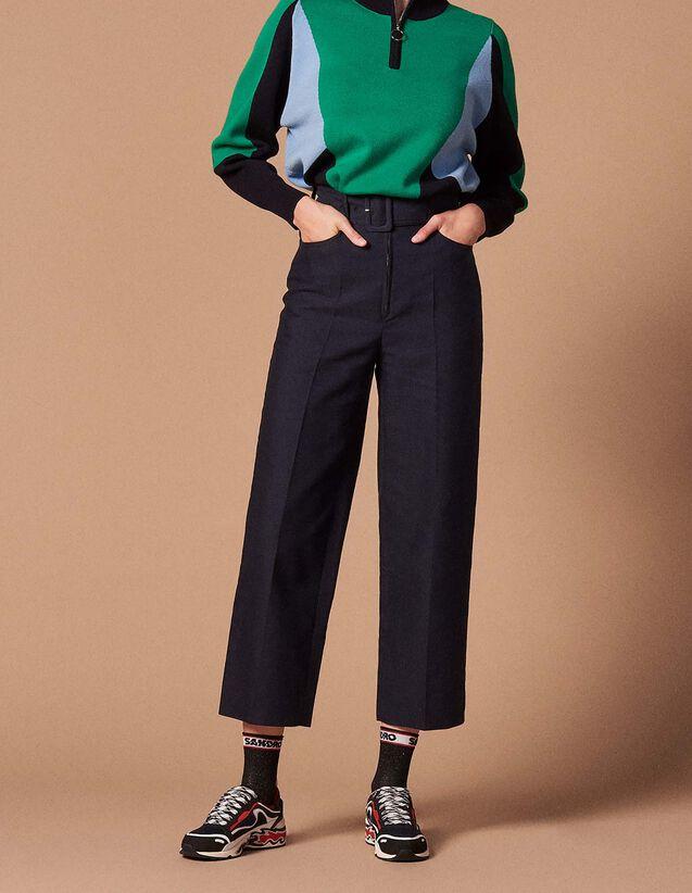 Pantalons Femme   nos coupes de pantalons chic et tendance   Sandro ... 9da06aa1e2c1