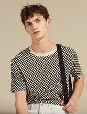 Tee-Shirt Damier En Coton : T-shirts & Polos couleur Noir