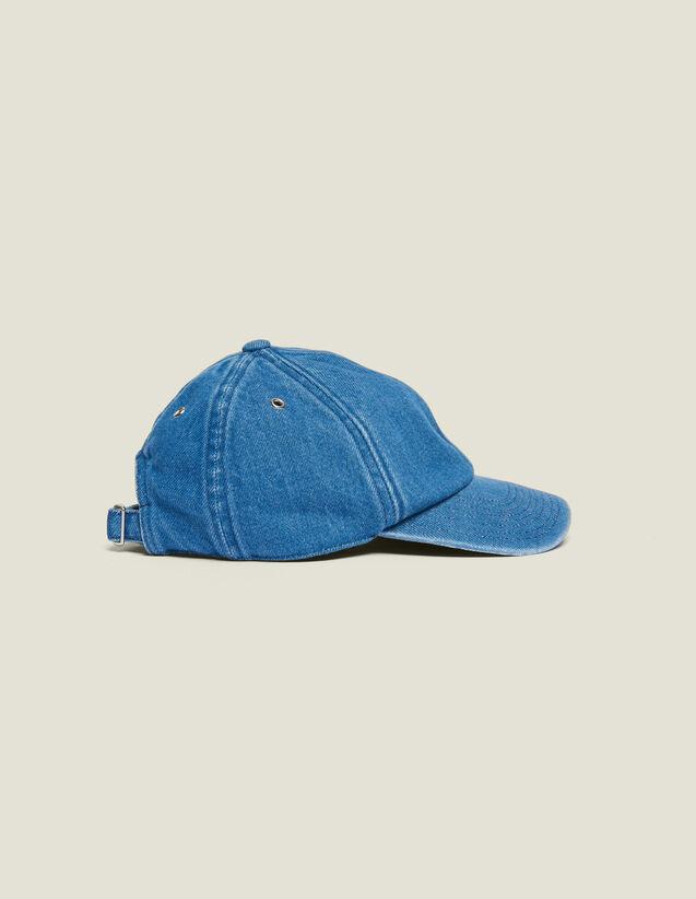 Casquette En Denim Délavé : Casquettes couleur Bleu
