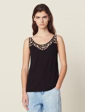 Débardeur Avec Plastron : T-shirts couleur Noir
