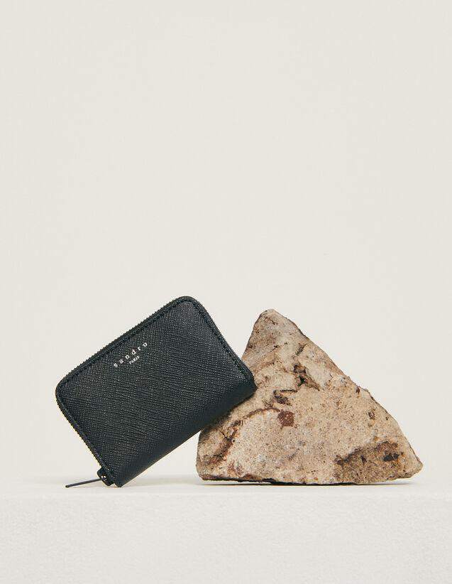Porte-cartes zippé : Collection Hiver couleur Noir