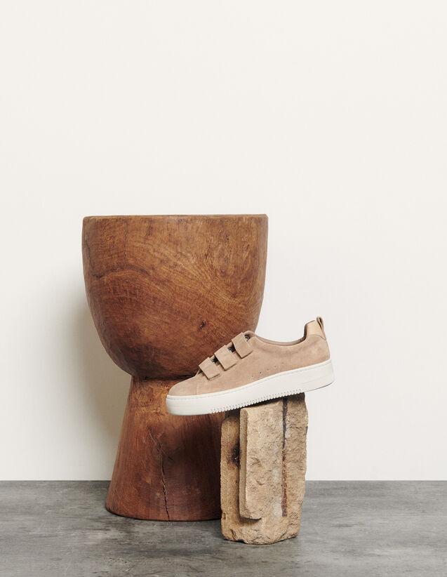 Baskets en cuir à scratchs : Toutes les Chaussures couleur Sable