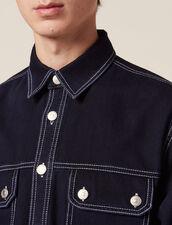 Surchemise En Denim : Chemises couleur Blue Night - Denim