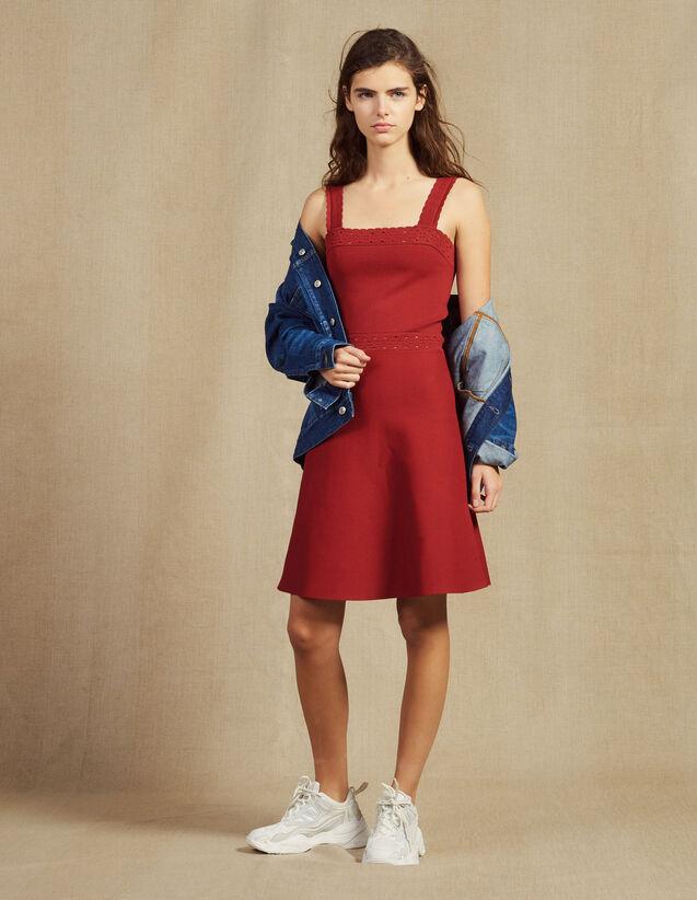 Robe À Bretelles En Maille : Robes couleur Terracotta