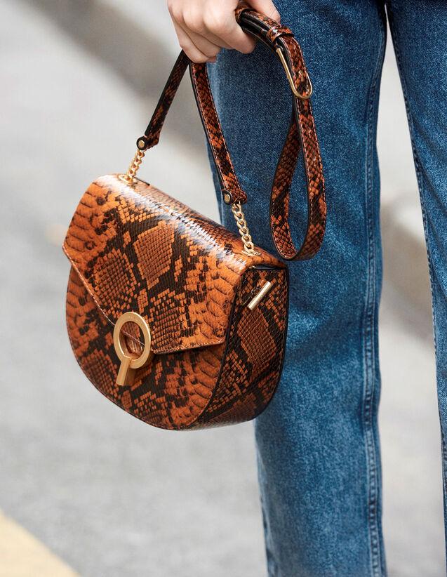 Sac Pépita Moyen Modèle : My Pepita Bag couleur PYTHON CAMEL