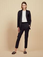 Pantalon De Tailleur Droit : Pantalons couleur Marine