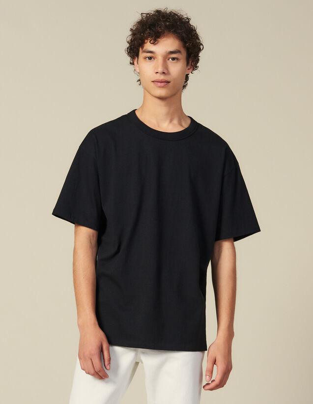 T-Shirt En Coton : Toute la collection Hiver couleur Noir