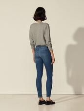 Jean slim bleu : Jeans couleur Blue Vintage - Denim