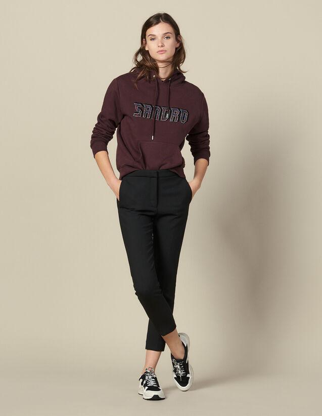 Pantalon Uni À Pinces : Pantalons couleur Marine