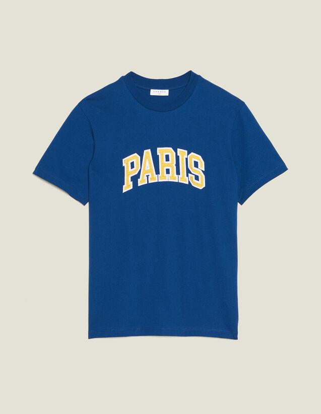 T-Shirt Avec Patch À Messages : T-shirts & Polos couleur Bleu