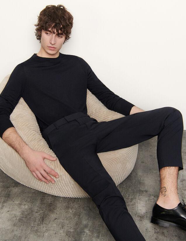 Pull en laine merinos : Pulls & Cardigans couleur Marine