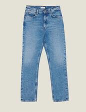 Jean Droit Délavé : -30% couleur Blue Vintage - Denim