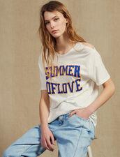 T-Shirt Avec Découpes Aux Épaules : T-shirts couleur Blanc