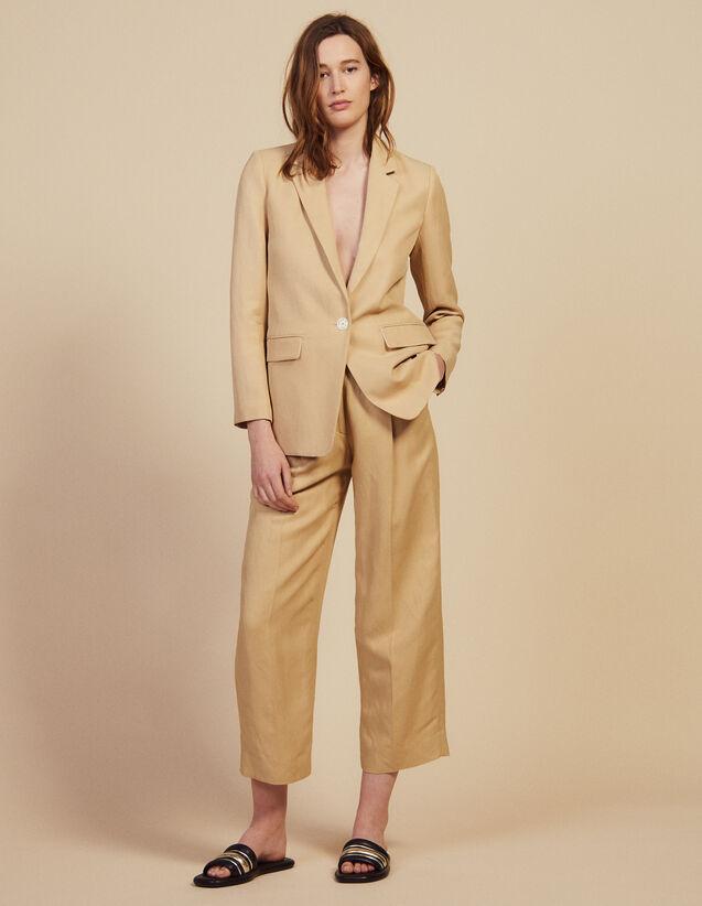 Veste De Tailleur : Blousons & Vestes couleur Beige