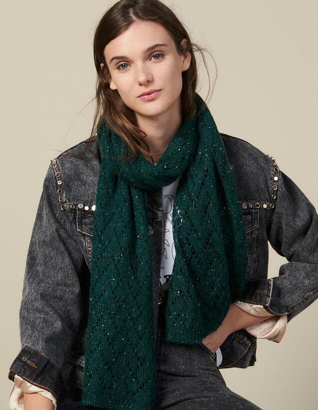 Echarpe À Sequins : Foulards & Écharpes couleur Vert Sapin