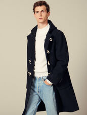 Duffle coat en laine : Trenchs & Manteaux couleur Ecru