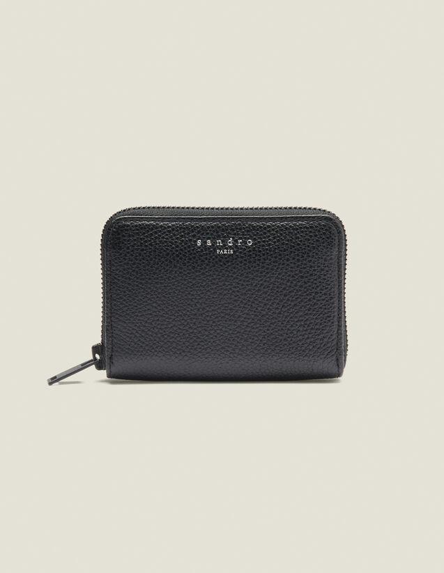 Porte Cartes Zippé : Collection Hiver couleur Noir