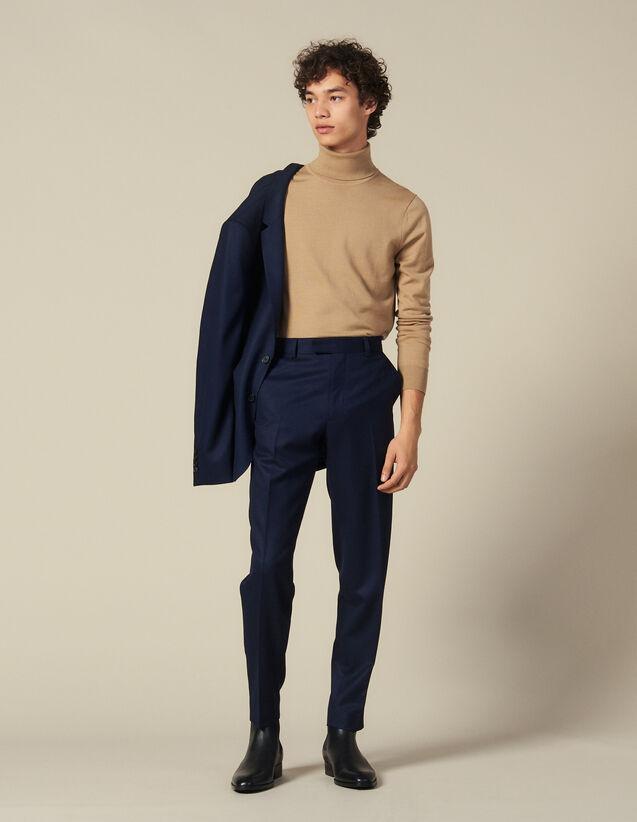 Pantalon de costume en laine : Costumes & Smokings couleur Marine