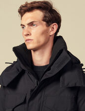 Parka avec duvet mi-longue : Trenchs & Manteaux couleur Noir