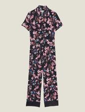 Combinaison Pantalon À Imprimé Fleuri : Sélection Last Chance couleur Noir