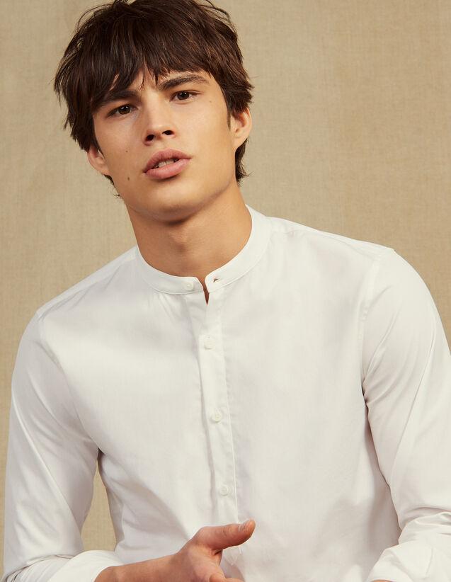 Tunique En Popeline : Chemises couleur Blanc