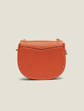 Sac Pépita Petit Modèle En Cuir Perforé : LastChance-CH-FSelection-Pap&Access couleur Orange