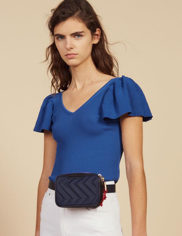 Top Ajusté En Maille : Tops & Chemises couleur Bleu
