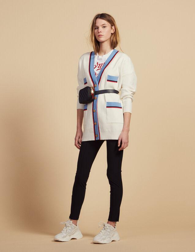 84b9adcd5547 Cardigan long manches longues   Pulls   Cardigans couleur Ecru