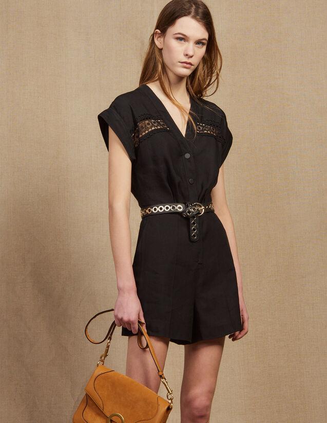 Combi-Short Sans Manches : Combinaisons couleur Noir