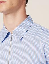 Chemise Rayée Zippée : Chemises couleur Bleu