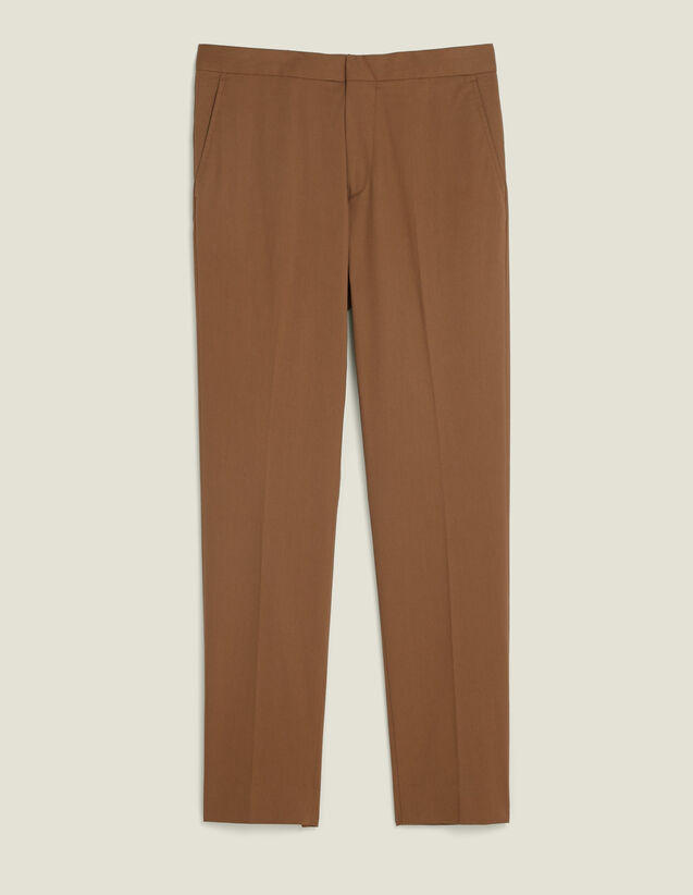 Pantalon Chino Ajusté : Pantalons & Shorts couleur Taupe